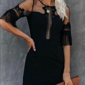 For the Portfolio Crochet Dress Vici Black